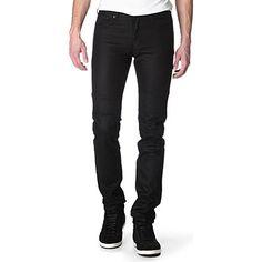 GIVENCHY Slim fit biker jeans (Black