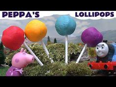 Peppa Pig Halloween Play Doh Surprise Toys Cars 2 Kids Thomas The Train Disney Princess Hello Kitty - YouTube