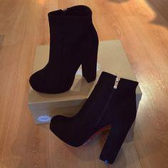 Black Platform Boots, High Heel Boots, Black Shoes, Heeled Boots, Shoe Boots, Ankle Boots, Shoes Heels, Cute High Heels, Cute Shoes