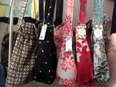 Reversible bags silk and jeans