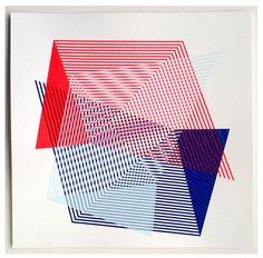 // TRANSMISSION 4 - handpulled limited edition silkscreen print by Kate Banazi