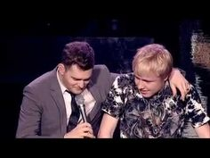 Michael Buble: this woman at a Michael Buble concert interrupts him to explain that her son had just turned 15 and really wanted to sing with him. Buble actually lets the kid on stage..you have to watch to see what happens.