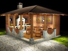 Bbq Shed: Small patio idea Grill Gazebo, Hot Tub Gazebo, Pergola Patio, Backyard Patio, Backyard Ideas, Cheap Pergola, Small Pergola, Small Patio, Small House Garden