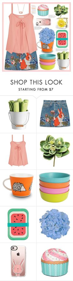 """""""Eternal child's soul"""" by natalyapril1976 ❤ liked on Polyvore featuring Gucci, Marni, Gold Eagle, Ekobo, Sunnylife, Casetify, Woouf! and Kendra Scott"""