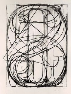 """0 through 9"" Lithograph by Jasper Johns, 1960."
