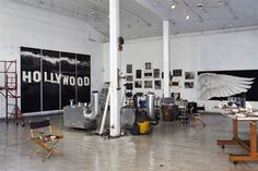 Robert Longo's Studio. Sean Scully, Art Quiz, First Art, New Art, Amazing Art, Cool Photos, Digital Art, Workspaces, Architecture