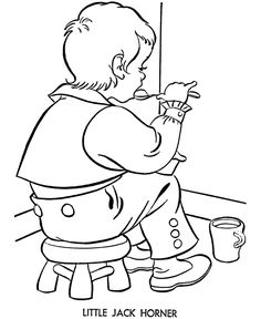 nursery rhyme story character coloring page - Nursery Coloring Pages