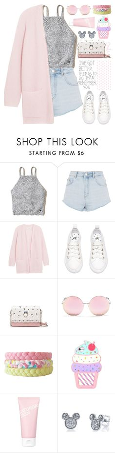 """""""Untitled #134"""" by hafizhahtika ❤ liked on Polyvore featuring Hollister Co., Topshop, By Malene Birger, Matthew Williamson, Saturday Skin, Disney, cute, Pink and pastel"""