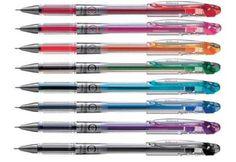 Pentel Slicci Gel Roller Pen BG207 - 8 Pack Assorted