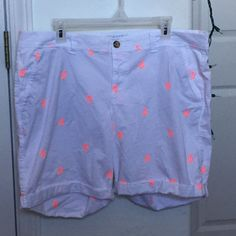 Old Navy Anchor Shorts White shorts with orange anchors on them. Great condition! Old Navy Shorts