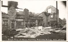 Witney. Fire at Glove Factory, Newland 1926 by Frank Packer. Disaster. in Collectables, Postcards, Topographical: British, England, Oxfordshire | eBay
