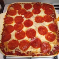 Pizza Casserole. Yummy!