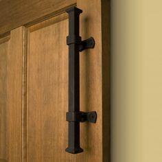 Barn door handle  http://www.signaturehardware.com/hardware/door-hardware/heavy-duty-iron-pipe-pull.html