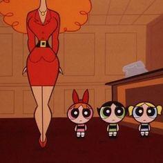 Powerpuff girls and Miss Sara Bellum