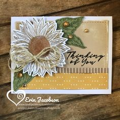 """Sunflower Sympathy Cards """"Easy To Embellished"""" vol 1 – Crafty Concepts with Scrapbooking, Scrapbook Cards, Stamp Up, Stamp Sets, Sunflower Cards, Stampin Up Catalog, Stamping Up Cards, Fall Cards, Sympathy Cards"""