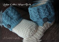 """Kickin' Cables"" Slipper Boots ~ Crochet Pattern by A Crocheted Simplicity"