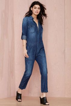 Citizens of Humanity Tallulah Denim Jumpsuit | Shop Jean Genie at Nasty Gal