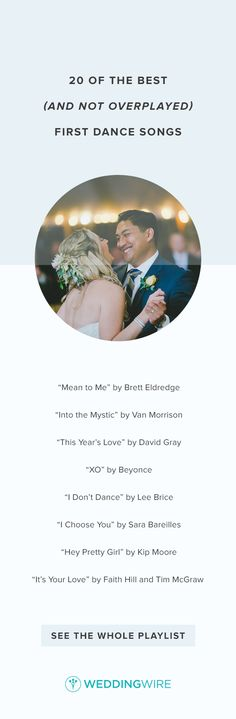 20 of the Best (and Not Overplayed) First Dance Songs - See all 20 unique and sentimental first dance song ideas on @weddingwire! {Endless Wave Studio}