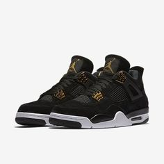 The Air Jordan IV Retros are designed with a suede and mesh upper for breathability. The sneakers have a traditional lace up closure for a secure fit. These Jordans are also made with a visible Air-So