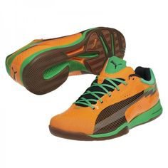 New Puma evoSpeed Indoor 1 Handballschuhe flame orange