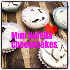Mini Nutella Cheesecake Recipe  <3 Oreo crust with a Nutella centre surrounded by creamy cheesecake goodness!