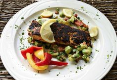 Recipe: Blackened Salmon With Avocado
