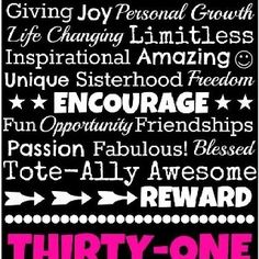 What thirty-one is all about!!