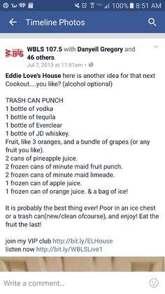 Trashcan punch