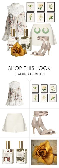 """Yearning"" by stephanie-mcclaran ❤ liked on Polyvore featuring Zimmermann, Giambattista Valli, Mullein & Sparrow and Palm Beach Jewelry"