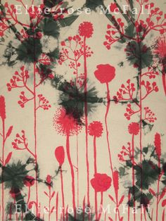 Ellie-rose McFall- Hand dyed and printed sample for my FM. Looking at cracked surfaces for the background. Printed, Rose, Painting, Art, Art Background, Pink, Painting Art, Kunst, Paintings