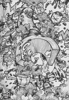 Black and White. Just a Pen Drawing. by via Behance Graffiti, Diabetic Dog, Dog Snacks, Dinners For Kids, Gel Pens, Graphic Illustration, Healthy Dinner Recipes, Free Food, Doodles