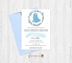 Cinderella Wedding Invitation Printable by SweetTeaAndACactus
