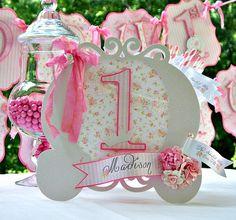 Princess Carriage Centerpiece: Shabby Chic by MyBellaBirthdays