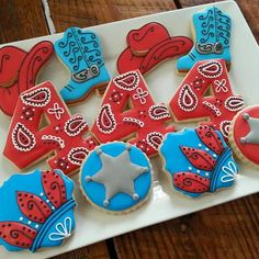 Western Theme Birthday Cookies by TheTreatsbyTrishShop on Etsy