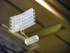 Ultra-light RC Model Plane Floats Like A Butterfly