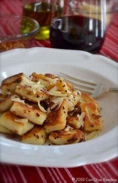 Fried Homemade Gnocchi with Garlic & Parmesan