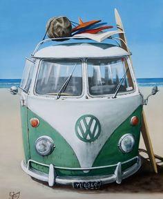 Check out Vee Dub Paper Print by Graham Young at New Zealand Fine Prints Volkswagen Transporter, Vw T1, New Zealand Art, Vanz, Nz Art, Sparkling Lights, Kiwiana, Canvas Prints, Art Prints