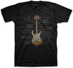 Kerusso Men's Christian T-Shirt - Amazing Guitar; #Kerusso #ChristianApparel #ChristianT-shirt