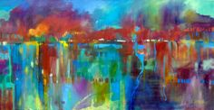 24 x 48 oil on canvas, Nocturne Marsh, Carly Hardy artist, www.carlyhardy.com