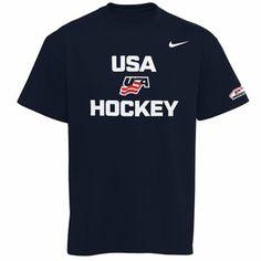 Nike USA Hockey Practice T-Shirt - Navy Blue Hockey Hats 680704e78