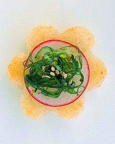 Sesame Flowers  http://www.marthastewartweddings.com/recipe/sesame-flowers?center=0=230716=224692