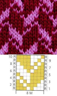 Knitting Charts, Knitting Stitches, Free Knitting, Stitch Patterns, Knitting Patterns, Crochet Patterns, Crochet Chart, Knit Crochet, Yarn Inspiration