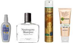 Drugstore options 1) CeraVe AM - $13.99 2) Neutrogena Anti-Residue Shampoo - $5.59 3) L'Oreal Elnett Unscented Hairspray - $11.99 4) Garnier Skin Renew B.B. Cream - $12.99