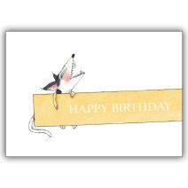 Fröhliche Geburtstagskarte für Hunde Liebhaber: Happy Birthday