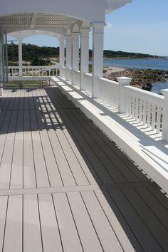 Azek slate gray deck. Idea for deck off master...