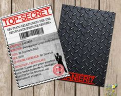 20 Personalized Birthday Invitations Top Secret by partyplace