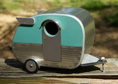 How stinkin' cute is this Birdhouse? Vintage Camper Birdhouse by jumahl on Etsy, $60.00