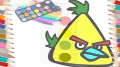 Angry Bird And Banna Drawing For Kids: color Picture For Kids Online Drawing, Drawing Websites, Colour Drawing, Painting & Drawing, Colorful Drawings, Colorful Pictures, Drawing For Kids, Drawing Ideas, Drawings Of Friends