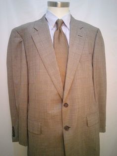 Hickey Freeman Two Button 43R Men's Sports Coat Blazer 100% Wool Fully Lined #HickeyFreeman #TwoButton