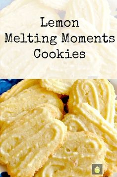 Lemon Melting Moment Butter Cookies